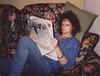Chiara reading the news, 1988 (Robert Barone) Tags: 1988 chiara eur italia italian italy italiana wife