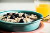 Chosen. (Angela.Dee) Tags: fiesta fiestaware oatmeal blueberries light orange purple canon 6d 100mml macro cy365