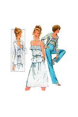 Simplicity 8406 70s fashion (FindCraftyPatterns) Tags: simplicity8406 camisole top shirt alineskirt highwaistpants sewingpattern flounce ruffle spaghettistrap size12 vintage70s