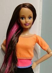 Think Pink (WhatIfChris) Tags: sindy hasbro hasbrosindy doll hybrid rebody liv reroot