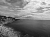freshwater bay (Johnson Cameraface) Tags: 2016 july summer olympus omde1 em1 micro43 mzuiko 1240mm f28 johnsoncameraface portland portlandbill dorset holiday monochrome coast freshwaterbay seaside sea cliffs portlandstone