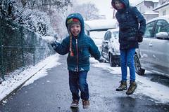 Throwing snow balls (Bart van Dijk (...)) Tags: dochter sneeuw daughter girl child tübingen snow kid boy son meisje weer jongen kind zoon vakantie sophie willem