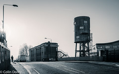 North Kensington-3.jpg (Colin Dorey) Tags: bw blackwhite monochrome blackandwhite kensington rbkc kensingtonchelsea london uk ladbrokegrove northkensington january 2017 winter canal building architecture structure watertower watertank house