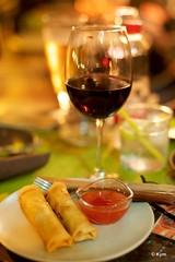 Late night snack (Kym.) Tags: andalucía andalusia café day5 dumpling latenight nerja pub snack somebodyelseskitchen spain wine wineco