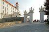 Slovakia-03091 - Leaving Bratislava Castle (archer10 (Dennis) 88M Views) Tags: slovakia globus sony a6300 ilce6300 18200mm 1650mm mirrorless free freepicture archer10 dennis jarvis dennisgjarvis dennisjarvis iamcanadian novascotia canada bratislavacastle castle hill white courtyard gate