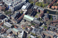 St Andrews Hall in Norwich - aerial (John D F) Tags: norwich norfolk standrewshall universityofthearts artcollege aerial aerialphotography aerialimage aerialphotograph aerialimagesuk aerialview britainfromabove britainfromtheair hirez hires highresolution viewfromplane droneview