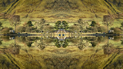 Mirrors Of The Land And The Loch (Fiona Smith (Prev. Fiona McAllister Photography)) Tags: landscape landscapephotography reflection reflections symmetry symmetrical lake loch water waterreflection waterreflections mirrored mirror scottishlandscape scotland uklandscape fionasmithphotography scottishborders