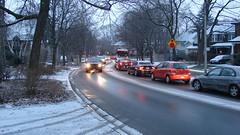 023 (citatus) Tags: chaplin crescent duplex avenue toronto canada winter evening 2010 sony dsch2 cars snow tire tracks rush hour ttc 14 bus