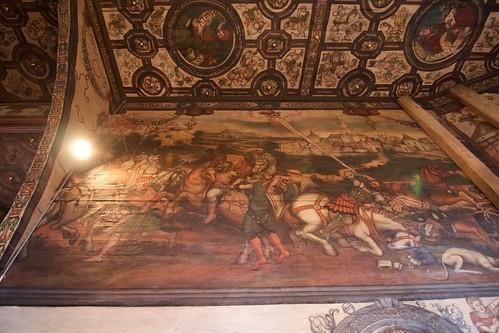 Nawrócenie Szawła pod murami Damaszku - ściana północna prezbiterium kościoła w Boguszycach
