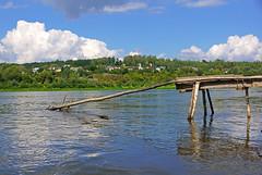 Fishermen's pier on Oka river, Russia (Andrey Sulitskiy) Tags: russia polenovo oka россия поленово ока