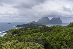 Mount Gower and Lidgbird from the Malabar Track (Ralph Green) Tags: clouds australia lordhoweisland muttonbirdisland mountlidgbird mountgower ballspyramid malabartrack