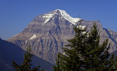 Mount Robson (brucecarlson66) Tags: park mountain canada face america point landscape rockies bay rainbow highway outdoor hill north rocky peak columbia glacier ridge company british hudson mountainside range emperor provincial highest yellowhead prominent