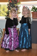 The girls in their dresses from Grandma