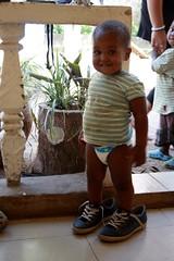 Junior op grote voet
