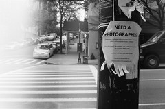 Need a Photographer? (Photography by Corey Deshon) Tags: street nyc newyorkcity blackandwhite ny newyork art film monochrome analog 35mm vintage mono blackwhite trix streetphotography style rangefinder 400tx 400 streetphoto analogue yashica analogphotography bnw yashicaelectro35 trix400 filmphotography electro35 filmisnotdead monoart filmshooters staybrokeshootfilm coreydeshon thirteenthfloormedia thirteenthfloormediacom