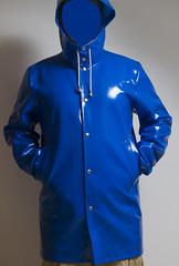 Stutterheim (Agu-) Tags: blue raincoat opal regenjas stutterheim