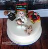 Christening Cake / Naming Day Cake - Robin (ThePerfectionistConfectionist) Tags: christeningcake handmadecaketoppers namingdaycake cakesmalahide cakesnorthcountydublin cakesdublin bespokeweddingcakes bespokecakes2