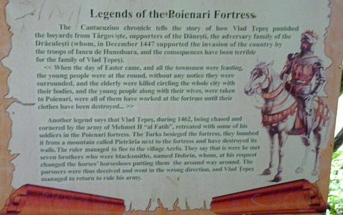 Poienarii citadel info board