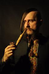 Cossack's Pipe (Schatz_the_Rabbit) Tags: haircut man male shirt folk embroidery smoke traditional pipe inspired chub ukraine smoking cossack mens ukrainian embroidered     aidar aydar          chupryna