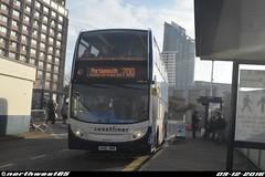 15599 (northwest85) Tags: stagecoach portsmouth coastliner 700 gx10 hbh 15599 scania alexander dennis adl enviro 400 hard interchange bus gx10hbh