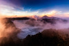 Morning Burnoff (Trent's Pics) Tags: eastjava mountbromo seaofclouds bromo burnoff clouds indonesia java landscape morning sunrise volcano