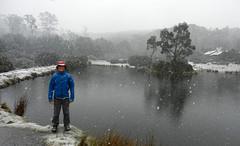 Blizzard (LeelooDallas) Tags: australia tasmania snow lake cradle mountain national park woods tree forest landscape dana iwachow nikon coolpix s9100