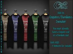 "Add-On ""Coquito&Daviken V#2"" (..:: OPOPOP Design ::..) Tags: opopop design coquito daviken addon add on mesh coat"