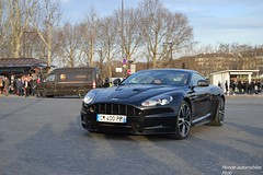 Aston Martin DBS (Monde-Auto Passion Photos) Tags: voiture véhicule auto automobile astonmartin aston martin dbs coupé noir france rally paris evenement sportive supercar