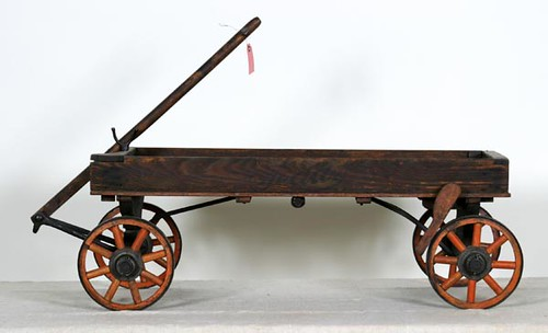 Early wooden child's wagon ($257.60)