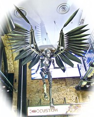 Angel of the Apocalypse? (Englepip) Tags: angel steel outerspace sculpture hanging weird london