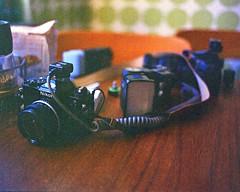 Nikon FE on the table (Mister.Marken) Tags: sweden mamiyam645 kodakfilm kodakportra 400vc expiredfilm 220filmformat filmphotography nikon nikonfe cameraporn