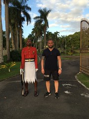 Outside the presidents palace, Suva, Fiji!