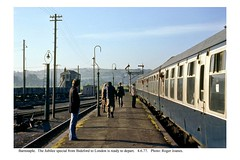 Barnstaple. Jubilee train for London. 4.6.77