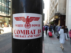 Combat 18 sticker (duncan) Tags: sticker combat18 nazi swastika whitepower