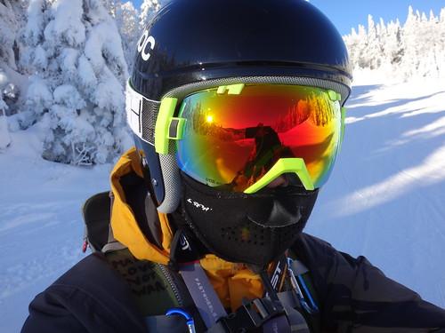 Ski selfie at Tremblant // New helmet this year!