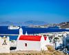 Mykonos Harbour (Kevin R Thornton) Tags: d90 ship landscape travel architecture greece mediterranean windmill nikon mykonos harbour transport mikonos egeo gr