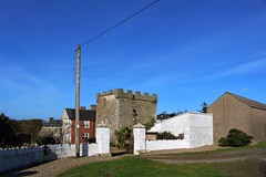 My home is my castle (JulieK (ready for another 365 challenge)) Tags: hww 2017onephotoeachday canoneos100d wexford cullenstowncastle telegraphpole htt walls old stone ireland irish history