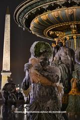 Fontaine de la place de la concorde (peregrinationsautourdumonde) Tags: fontainegelée fontaine obélisque concorde placedelaconcorde photobynight photodenuit parisbynight parisdenuit paris francia france