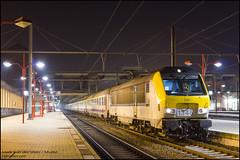 """NMBS 1345 + I6 + M6 """"IC2141"""" - Namur (Mark van der Meer) Tags: hle13 i6 m6 nmbs spoor stationnamur trein namur wallonie belgië be sncb i10 rijtuig carriages train rijtuigen eurofima nationalemaatschappijderbelgischespoorwegen sociéténationaledescheminsdeferbelges snob alstom locomotive locomotief electriclocomotives tractis"""