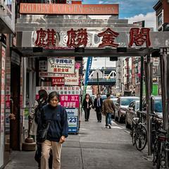 Chinatown (Lucille-bs) Tags: amérique etatsunis usa etatdenewyork newyork chinatown rue city passant trottoir 500x500 vélo enseigne restaurant ebroadway