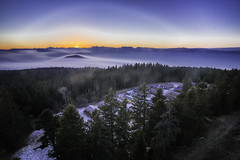 chamrousse (julien roland photographies (julienroland.fr)) Tags: longue exposition long exposure chamrousse france montagne mountain isère vercors belledonne station ski pistes sapins forêt tree snow forest village clouds nuages mer de nuage grenoble vallée valley