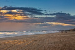 Walk On The Sunset Beach (k009034) Tags: 500px waves australia copy space gold coast pacific queensland tranquil scene beach clouds evening ocean oceania people sand sea sky sunset tracks travel destinations walking water teamcanon