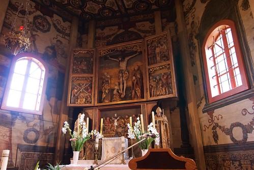 Ołtarz główny (poliptyk, 1558, J.Jantas) kościoła w Boguszycach
