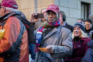 A Donald Trump Supporter Films Outside the 2017 Presidential Inauguration