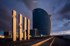 |||| W (Ramón Menéndez Covelo) Tags: w hotel vela sail barcelona bcn architecture building sunrise arco iris rainbow modern futuristic port puerto horizontal cityscape urban