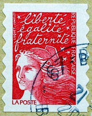 beautiful stamp France ('Marianne' by Luquet; liberté egalité fraternité;  Freiheit Gleichheit Brüderlichkeit; liberty equality fraternity)  Briefmarken Frankreich porto timbres Republique Francaise フランス 切手 ジャガー selos sello France bollo francobolli Franci (stampolina, thx ! :)) Tags: french stamp france postes timbres postage poste timbre republiquefrancaise selo frança francobolli francia sello 邮票 法国 yóupiào fǎguó почтовая марка франция perangko perancis رسوم البريد طوابع فرنسا postaköltség bélyegek franciaország pullar pullari fransa postaücreti frankreich stamps briefmarke briefmarken スタンプ postzegel zegel zegels марки टिकटों แสตมป์ znaczki 우표 frimærker frimärken frimerker francobollo bolli sellos selos razítka γραμματόσημα markica antspaudai маркица pulları tem 切手 timbru marianne pulu liberté egalité fraternité woman libertéegalitéfraternité freiheitgleichheitbrüderlichkeit libertyequalityfraternity liberty red rot