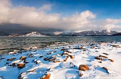 Lago di Campotosto (AQ) (giorgio.martini ph) Tags: partco nazionale grasasso park national snow neve ice ghiaccio autunno tramonto autumn sunset sunrise moorise lake lago