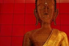 Mawlamyaïne - monastère Taung Pauk (luco*) Tags: birmanie myanmar burma mawlamyaïne taung pauk monastery monastère bouddha bambou bamboo thread buddha image moulmein