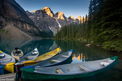Kano for rent (Drjdam) Tags: banff canada rockies alberta moraine lake kano reflaction