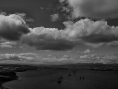Its a big sky country (ccgd) Tags: sky bw clouds scotland highlands ben rig oil cromarty intheair nigg wyvis